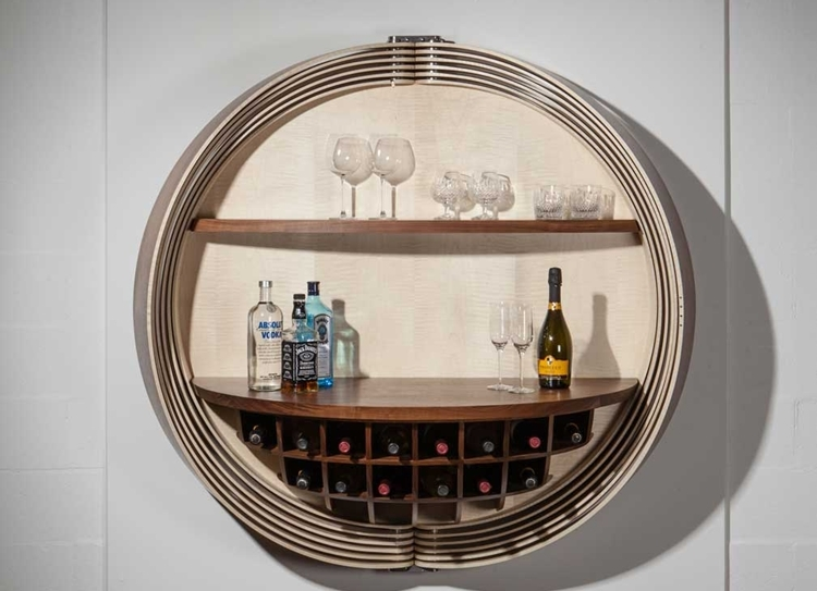 Dime cabinet lets you put a gorgeous mini bar coffee for Mini bar wall cabinet