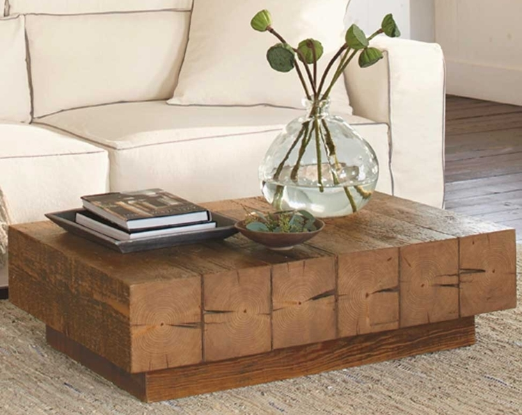 Chunky Timber Coffee Table 1