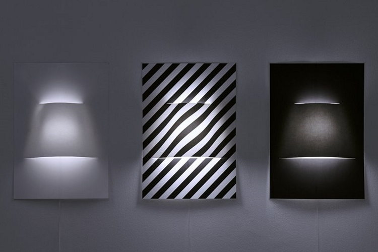Poster Wall Lamp Is Made From A Single Sheet Of A2 Paper