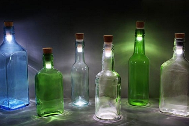 Decorative Bottles With Corks Simple Bottle Light Turns Your Throwaway Bottles Into Decorative Lamps Design Decoration