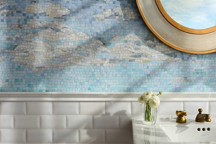 new ravenna s sea glass tiles give your bathroom floors and walls a