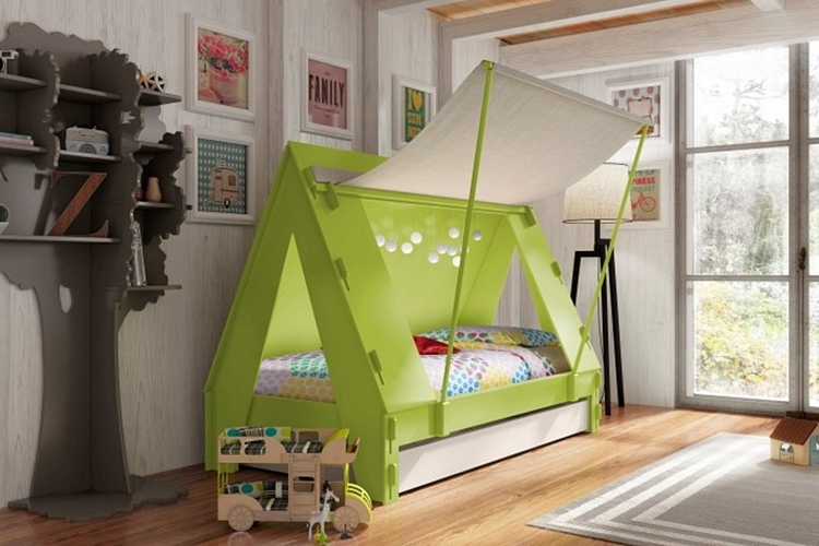 kids-tent-cabin-bed-1 & Every Night Can Be Camping Night With The Kids Tent Cabin Bed ...