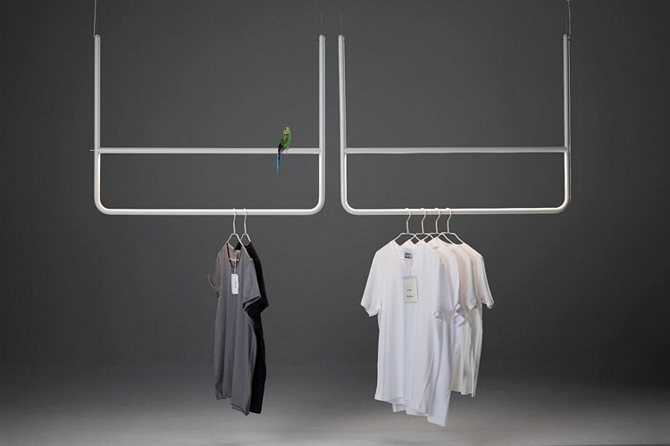 Hank Is A Hanging Rod That Doubles As Pendant Lamp